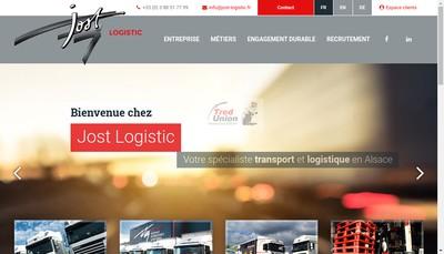 Site internet de Jost Logistic