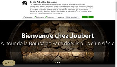Site internet de Joubert Groupe
