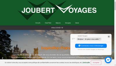 Site internet de Joubert Voyages
