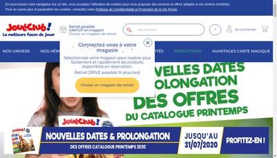 Site internet de Jouet Club