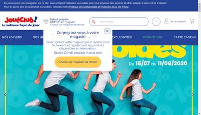 Site internet de Joueclub