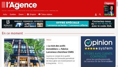 Site internet de Le Journal de l'Agence