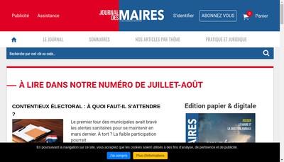 Site internet de Journal des Maires