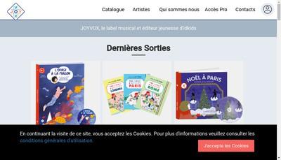 Site internet de Joyvox