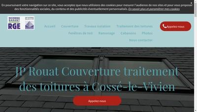 Site internet de EURL Jp Rouat Couverture