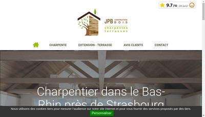 Site internet de Jpb Construction Bois