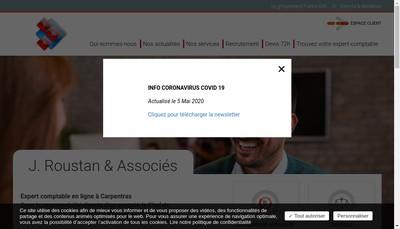Site internet de J Roustan et Associes
