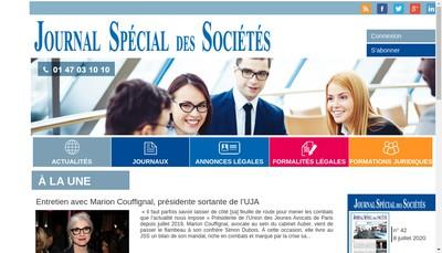 Site internet de Journal Special des Societes - Jss - Journal des Societes