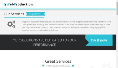 Site internet de JS Web Production