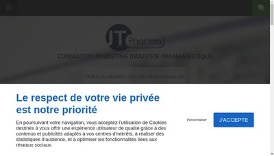 Site internet de JT Pharma