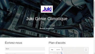 Site internet de Juki Genie Climatique