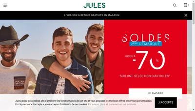 Site internet de Jules