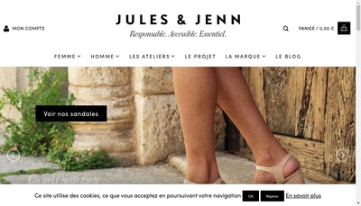 Site internet de Jules & Jenn