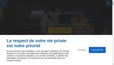 Site internet de Jules Pneus
