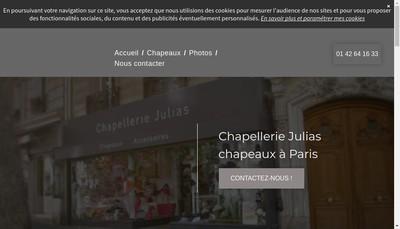 Site internet de Chapellerie Julias