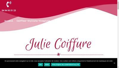 Site internet de Julie Coiffure