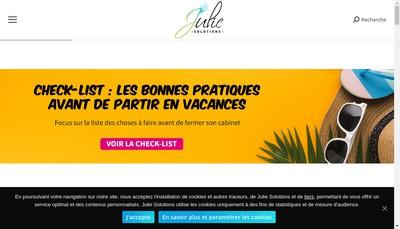 Site internet de Julie Solutions