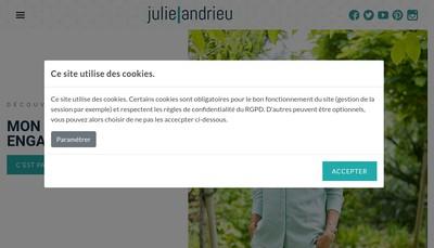 Site internet de Julie Andrieu