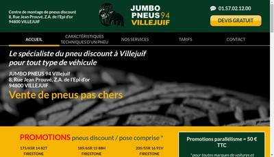 Site internet de Jumbo Pneus Villejuif