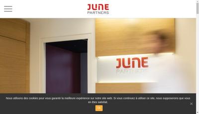 Site internet de June Partners