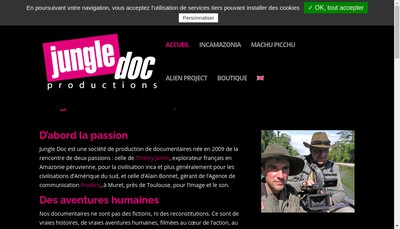 Site internet de Jungle Doc Productions