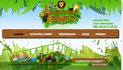 Site internet de Jungle Park Family