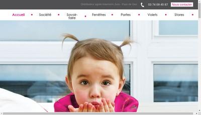 Site internet de Jura Fermetures