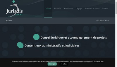 Site internet de Juriadis