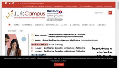 Site internet de Juriscampus