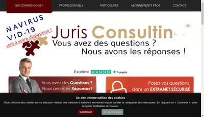 Site internet de Juris Consulting