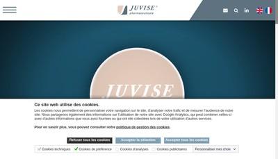 Site internet de Laboratoires Juvise Pharmaceuticals