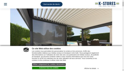 Site internet de K-Stores Bordeaux