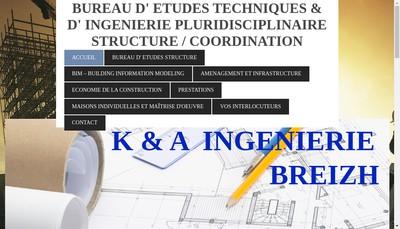 Site internet de K & a Ingenierie Breizh