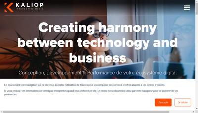 Site internet de Kaliop France
