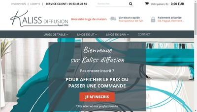 Site internet de Kaliss Diffusion