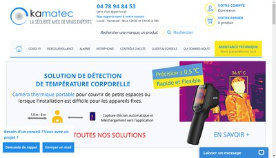 Site internet de Kamatec