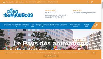 Site internet de Au Pays des Kangourous