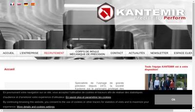 Site internet de Kantemir Mecanique de Precision