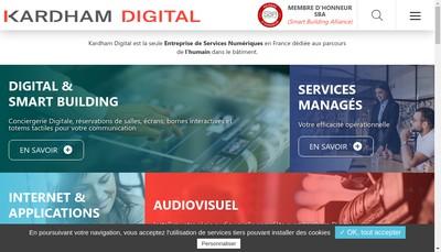 Site internet de Kardham Digital