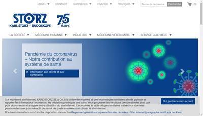 Site internet de Karl Storz Endoscopie France