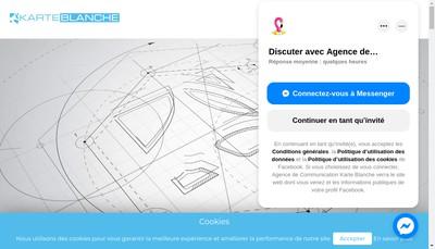 Site internet de Karte Blanche