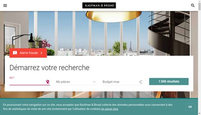 Site internet de Kaufman & Broad Pyrenees-Atlantiques