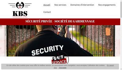 Site internet de Kbs Securite Societe Privee