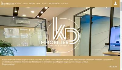 Site internet de KD Immobilier