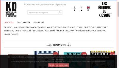 Site internet de Les Editions du Kiosque