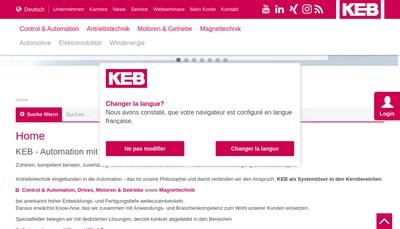 Site internet de Societe Francaise Keb
