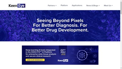 Site internet de Keen Eye Technologies