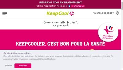 Site internet de Keep Cool