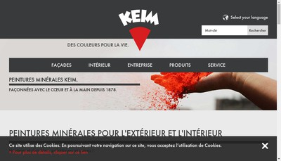 Site internet de Peintures Minerales Keim