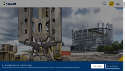 Site internet de Keller Fondations Speciales